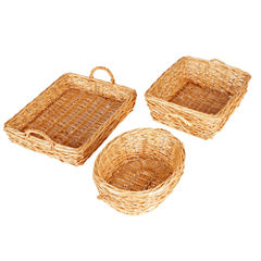 Household Essentials® Willow Basket Trays Set