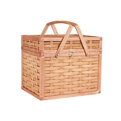 Household Essentials® Bamboo Hamper Picnic Basket