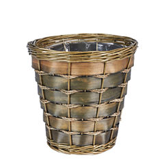 Household Essentials Small Haven And Poplar  Waste Basket