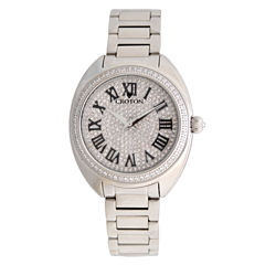 Croton Womens Silver Tone Bracelet Watch-Cn207564sspv