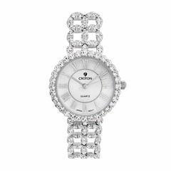 Croton Womens Silver Tone Bracelet Watch-Ss202116czmp