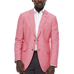 Stafford Linen Cotton Red Sport Coat- Classic Fit