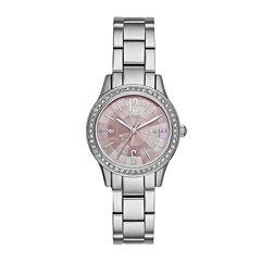 Relic® Womens Silver Pink Mos Zr12176 Bracelet Watch