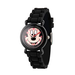 Disney Mickey Mouse Boys Black Strap Watch-Wds000014