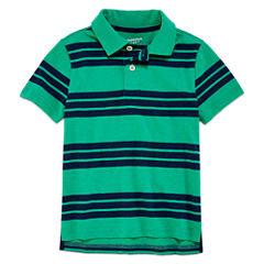 Arizona Short Sleeve Stripe Pique Polo Shirt - Preschool Boys