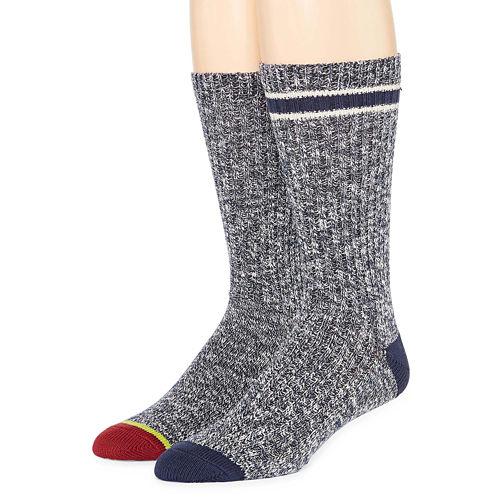 St. John's Bay® Mens 2-pk. Casual Comfort Crew Socks
