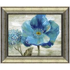 Blue Poppy Poem II Framed Wall Art