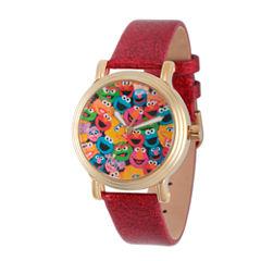 Sesame Street Womens Red Strap Watch-Wss000003