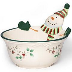 Pfaltzgraff® Winterberry Snowman All-Purpose Bowl