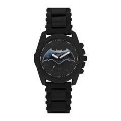 DC Comics® Mens Batman™ Black Strap Watches