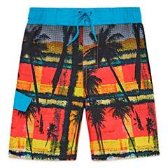 Arizona Boys Palm Tree Swim Trunks-Preschool