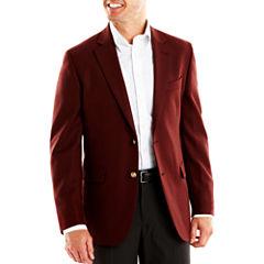 Stafford® Executive Hopsack Blazer - Portly