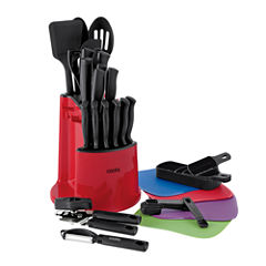 Cooks 34-pc. Spin and Store Caddy Knife Set
