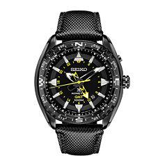 Seiko Dive Mens Black Strap Watch-Sun057