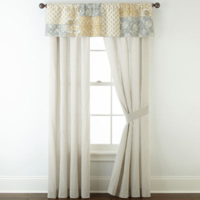 home expressions isabel 2pack rodpocket curtain panels - 63 Inch Curtains