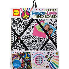 ALEX TOYS® Color a Peace & Love Memo Board Kit