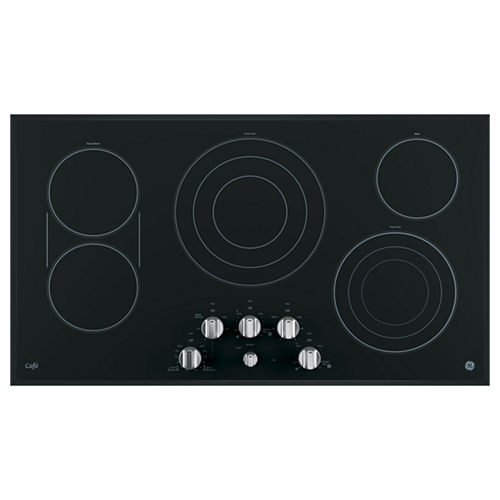 GE Café ™ 36 Built-In Knob Control Electric Cooktop With 5 Elements