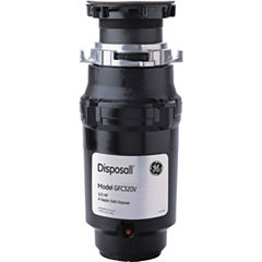 GE® 1/3 HP Continuous-Feed Garbage Disposer - Non-Corded
