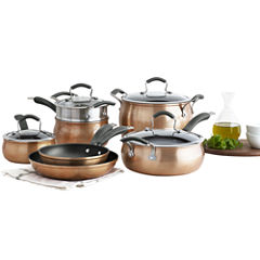Epicurious® Copper 11-pc. Aluminum Nonstick Cookware Set