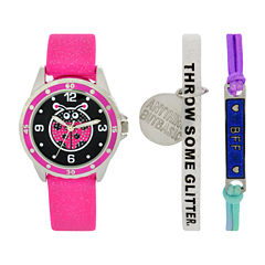 Total Girl Girls Pink Watch Boxed Set-Ttg1001jc