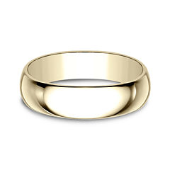 Mens 6mm 10K Yellow Gold Wedding Band