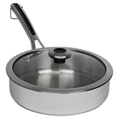 Revere Copper Confidence Core 3 Qt Stainless Steel Saute Pan