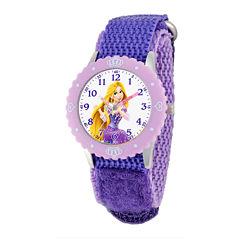 Disney Rapunzel Kids Purple Nylon Strap Watch