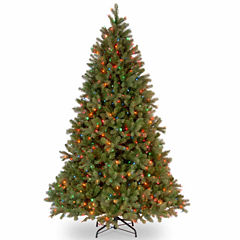 National Tree Co. 7 1/2 Foot Downswept Douglas Fir Hinged Pre-Lit Christmas Tree