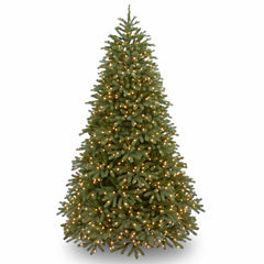 National Tree Co. 7 1/2 Foot Jersy Fraser Fir Hinged Pre-Lit Christmas Tree