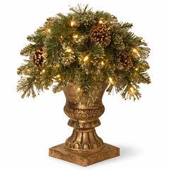 National Tree Co. Glittery Gold Pine Porch Pre-Lit Christmas Tree