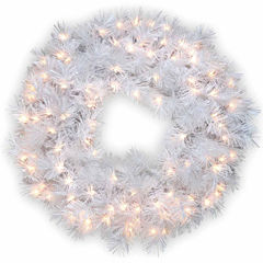 National Tree Co. Wispy Willow Grande White Indoor/Outdoor Christmas Wreath