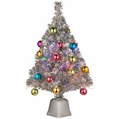 National Tree Co. 2 Foot Fiber Optic Pre-Lit Christmas Tree