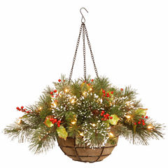 National Tree Co. Wintry Pine Hanging Basket