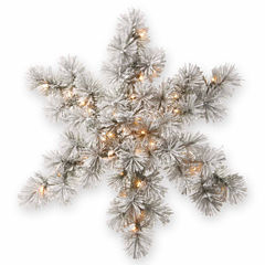 National Tree Co. Bristle Pine Snowflake Holiday Yard Art