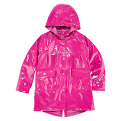 Wippette Girls Hooded Shiny Raincoat