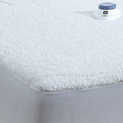 Safe And Warm Sherpa Heated Quilted Heated Mattress Pad