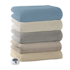 Safe And Warm Luxe Plush Heated Plush Electric Blanket