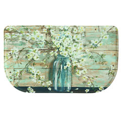 Bacova Guild Blossom In Jar Wedge Kitchen Mat