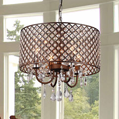 Warehouse Of Tiffany Alexia Antique Bronze Chandelier