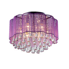 Warehouse Of Tiffany Erida 6-Light Chrome Ceiling Lamp