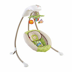 Fisher Price Deluxe Cradle N Swing Rainforest Friends
