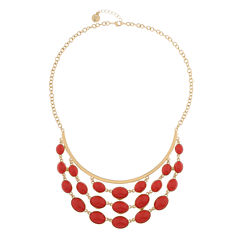 Liz Claiborne Orange Statement Necklace