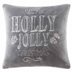 Madison Park Holly Jolly Christmas Square Throw Pillow
