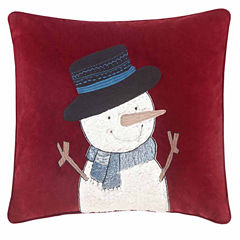Madison Park Jolly The Snowman Square Throw Pillow