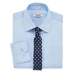 IZOD® Dress Shirt and Clip-On Tie Set - Boys 8-20