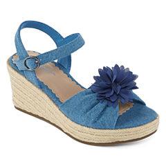 Arizona Elinor Girls Wedge Sandals - Little Kids