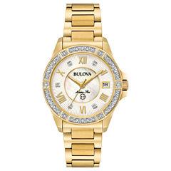 Bulova Womens Gold Tone Bracelet Watch-98r235