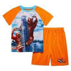 4D 2-pc. Short Sleeve Kids Pajama Set- Boys 4-16