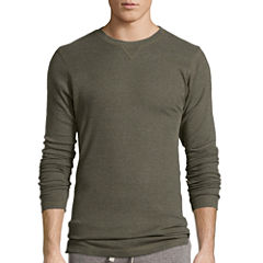 Hanes® Textured Thermal Crewneck Sleep Shirt