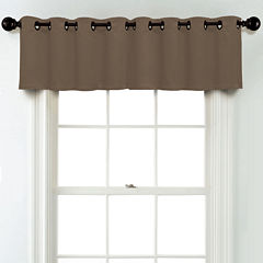 JCPenney Home Matte Satin Grommet Poly-Cotton Lined Tailored Valance